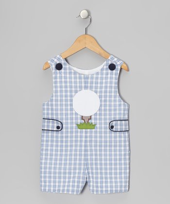 Blue Plaid Golf Tee John Johns - Infant & Toddler