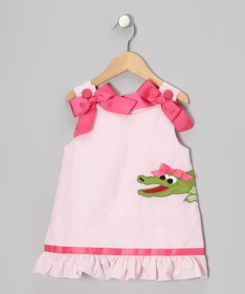 Pink Alligator Ruffle Jumper - Infant, Toddler & Girls