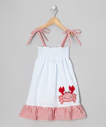 Light Blue Crab Sundress - Infant, Toddler & Girls