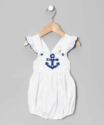 White Anchor Bubble Bodysuit - Infant & Toddler
