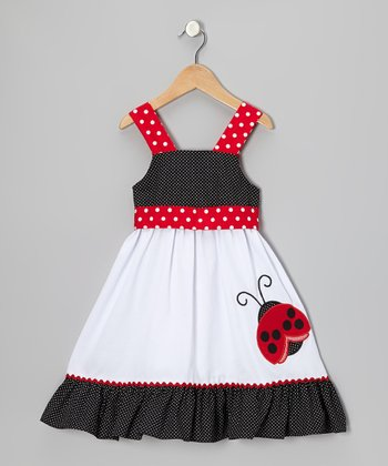 White & Red Ladybug Dress - Infant, Toddler & Girls
