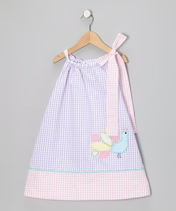 Purple Peacock Seersucker Swing Dress - Infant, Toddler & Girls