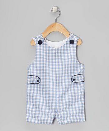Blue Plaid John Johns - Infant