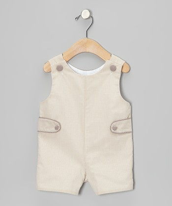 Beige Gingham John Johns - Infant & Toddler