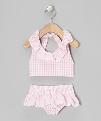 Pink Seersucker Sunsuit - Infant, Toddler & Girls
