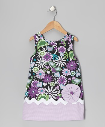 Purple Flower Swirl Jumper - Infant, Toddler & Girls
