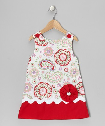 Red Paisley Jumper - Infant, Toddler & Girls