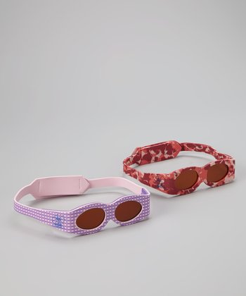 Red Camouflage & Purple Sunglasses Set