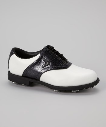 White & Black FT Chev Tour Golf Shoe - Women