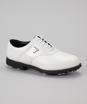 White FT Chev Tour Golf Shoe - Women