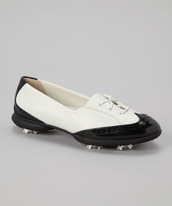 White & Black Rhiona Golf Shoe - Women
