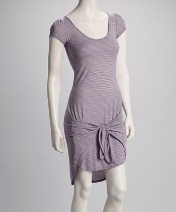 Purple Pinstripe Dress