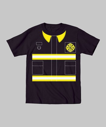 Tuxedo Tees Black Fireman Tee - Toddler & Boys