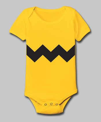 Tuxedo Tees Yellow Zigzag Bodysuit - Infant