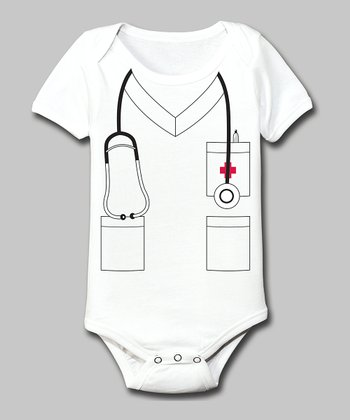 Tuxedo Tees White Nurse Bodysuit - Infant