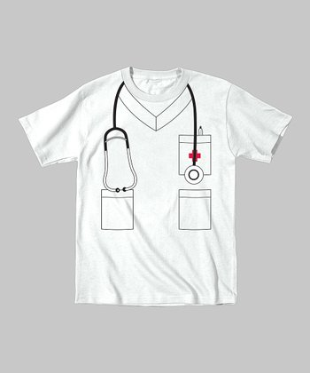 Tuxedo Tees White Nurse Tee - Toddler & Kids