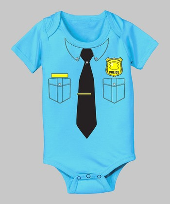 Tuxedo Tees Turquoise Police Officer Bodysuit - Infant