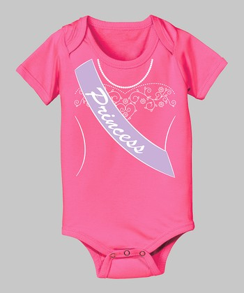 Tuxedo Tees Raspberry 'Princess' Bodysuit - Infant