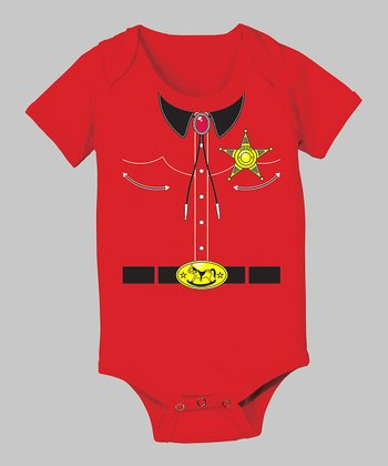 Tuxedo Tees Red Sheriff Bodysuit - Infant