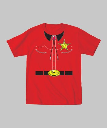 Tuxedo Tees Red Sheriff Tee - Toddler & Boys