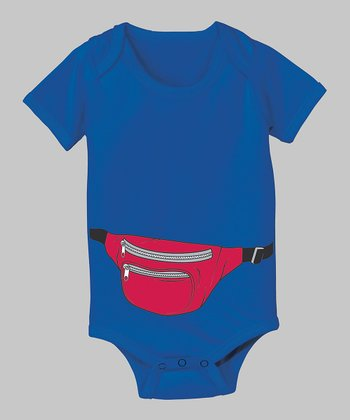 Tuxedo Tees Royal Blue Fanny Pack Bodysuit - Infant