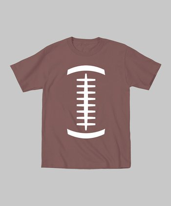 Tuxedo Tees Brown Football Tee - Toddler