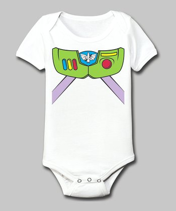 Tuxedo Tees White High-Tech Astronaut Bodysuit - Infant