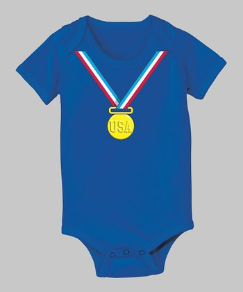 Tuxedo Tees Royal Blue Gold Medal Bodysuit - Infant