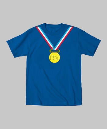 Tuxedo Tees Royal Blue Gold Medal Tee - Toddler & Boys