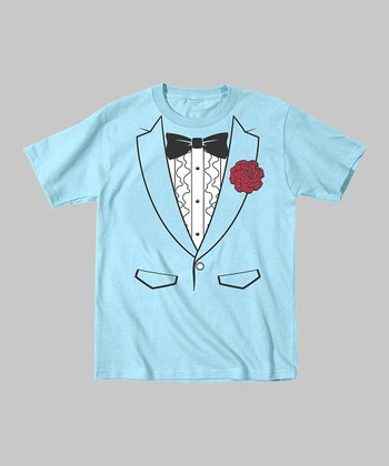 Light Blue Seventies Tuxedo Tee - Toddler & Boys