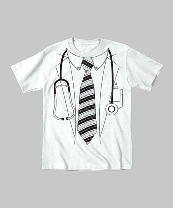 Tuxedo Tees White Doctor Tee - Toddler & Kids