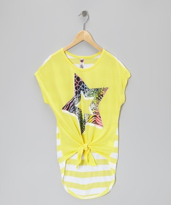 Sun Star Stripe Tie Top