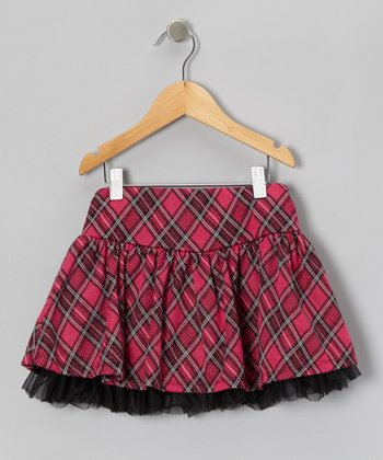 Hot Pink Plaid Skort