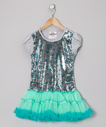 Gumdrop Sequin Frilly Dress