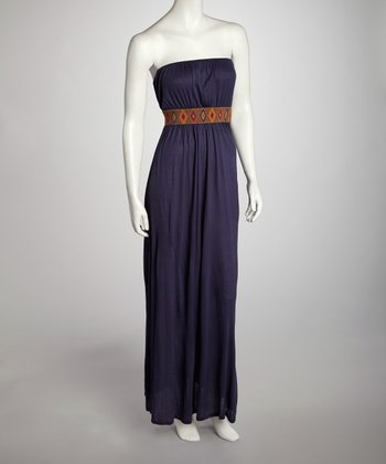 Indigo Diamond Maxi Dress