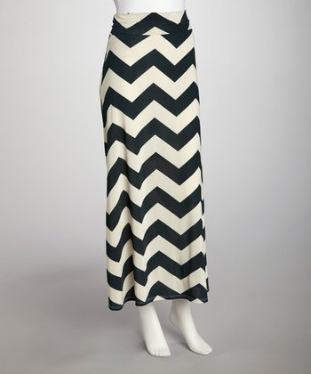 Teal Zigzag Skirt