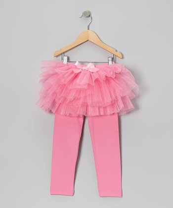 Pink Tutu Leggings - Infant, Toddler & Girls