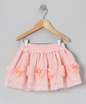 Peach Rose Skirt - Infant & Girls