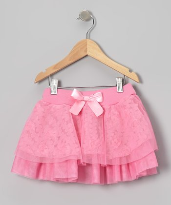 Pink Rosette Tiered Skirt - Infant
