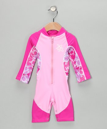 Ruby High-Tide One-Piece Rashguard - Infant, Toddler & Girls