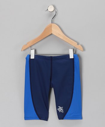 Royal Blue & Navy Jammers Shorts - Infant, Toddler & Boys