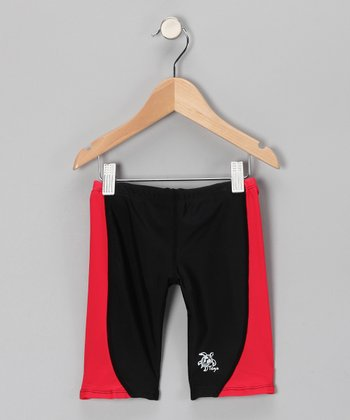 Red & Black Jammers Shorts - Infant, Toddler & Boys