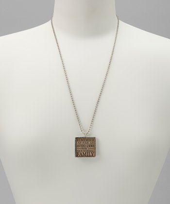 Silver 'Normal Family' Necklace