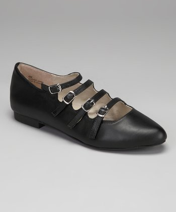 Black Mayfair Buckle Shoe