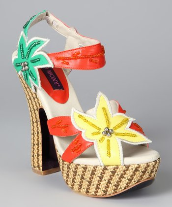 Yellow & Orange Soleil Platform Sandal