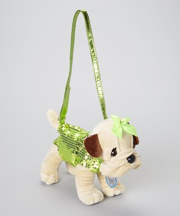 Brown & Green Betty Bulldog Purse