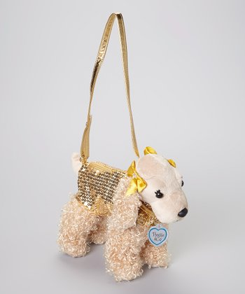Gold Sadie Dog Purse