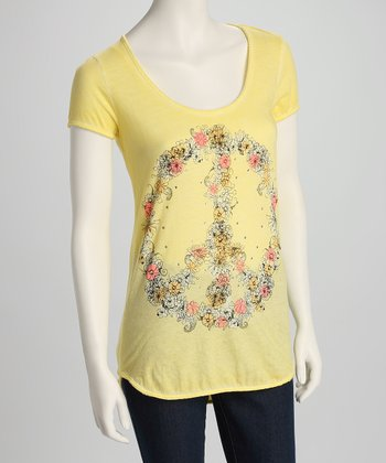 Yellow Flower Peace Hi-Low Tee