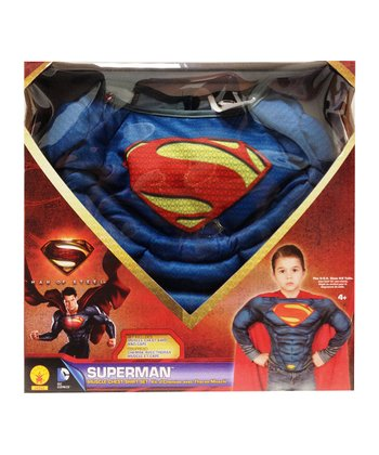 Red & Blue Superman Muscle Dress-Up Box Set - Boys