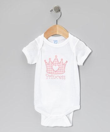 Pink 'Princess' Crown Bodysuit - Infant